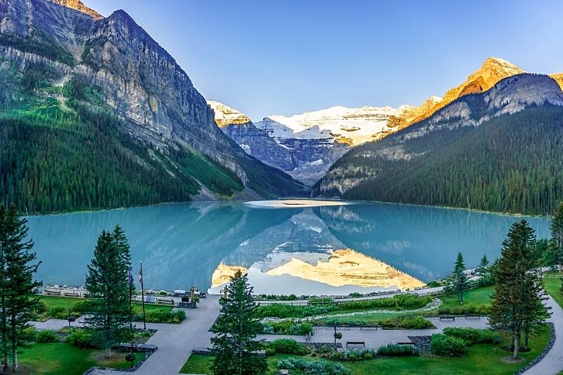 加拿大,自然美,露易斯湖,班夫,环境,云,雪,湖,绿松石色,加拿大落基山脉