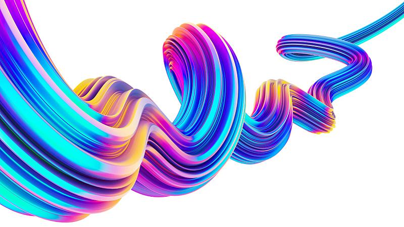 全息图,背景,形状,霓虹灯,液体,设计元素,三维图形,纹理效果,绘画插图