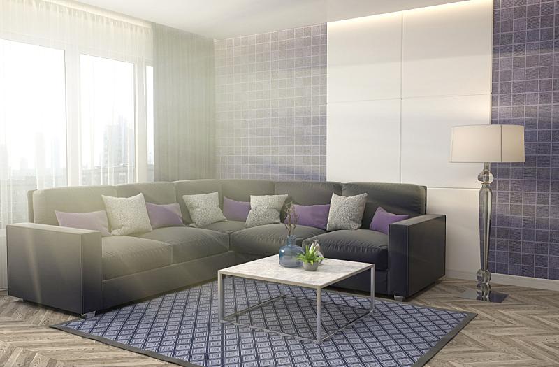 沙发,室内,绘画插图,三维图形,座位,水平画幅,无人,装饰物,家具,普罗旺斯