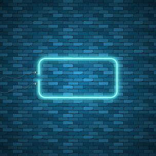 霓虹灯,正方形,蓝色,抽象,未来,夜晚,绘画插图,计算机制图,计算机图形学,明亮