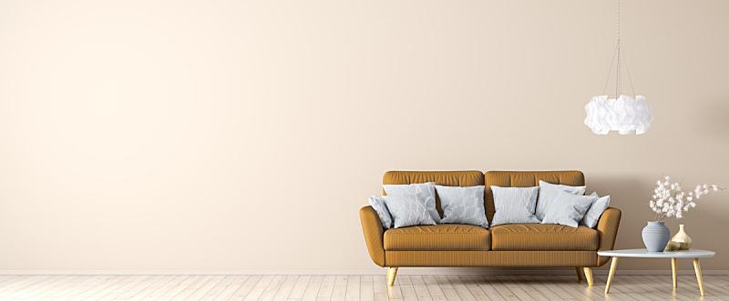 茶几,橙色,沙发,三维图形,室内,纺织品,照明设备,华贵,舒服,软垫