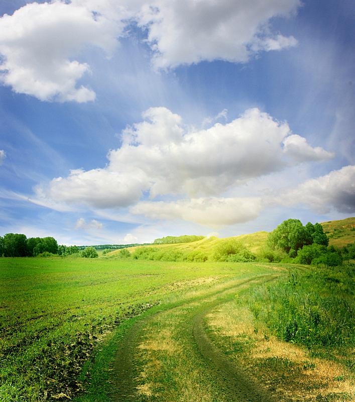 夏天,地形,自然美,自然,垂直画幅,草地,山,无人,蓝色,户外
