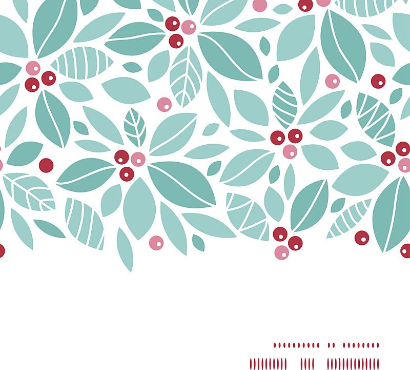 边框,浆果,四方连续纹样,背景,矢量,水平画幅,冬青树,华丽的,纺织品