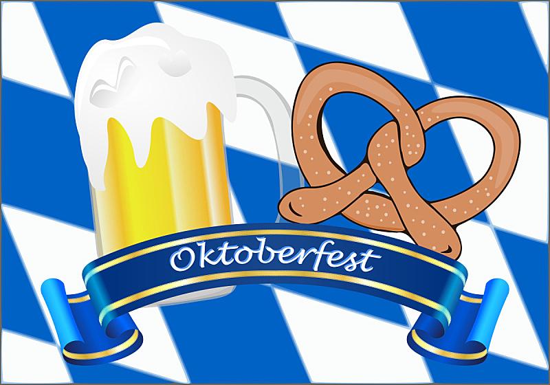 啤酒节,绘画插图,背景聚焦,按键区,球,水平画幅,传统,含酒精饮料,饮料,巴伐利亚