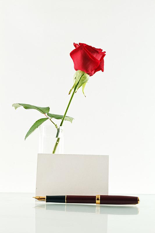 红色,音符,玫瑰,垂直画幅,贺卡,人的头部,桌子,无人,情人节,浪漫