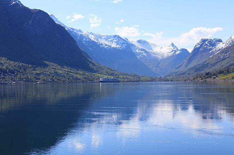 松恩-菲尤拉讷,春天,白昼,自然美,宏伟,约斯特谷冰原,冰河,峡湾,水,天空