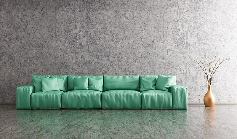 沙发,三维图形,室内,起居室,水平画幅,墙,无人,绘画插图,皮革,家具