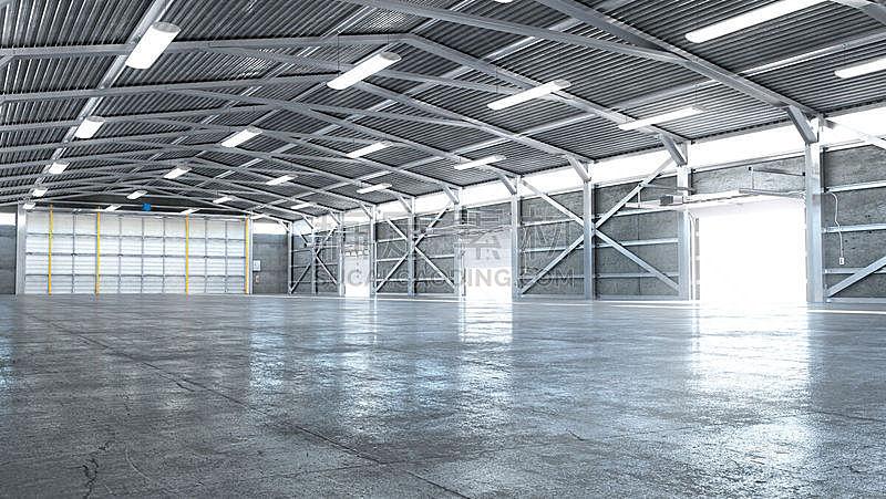 大门,室内,绘画插图,机库,开着的,三维图形,空的,飞机库,贮藏室,植物