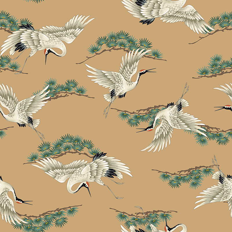 丹顶鹤,灰鹤,白色,状态描述,优美,鸟类,艺术品,古典式,动物身体部位,计算机制图