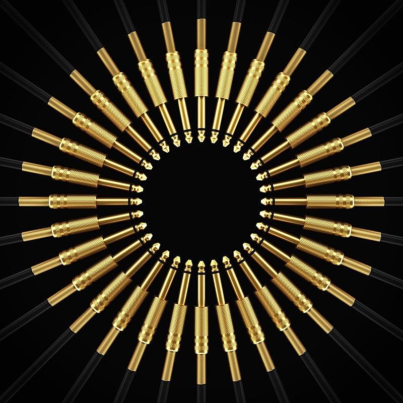 连接插头,黄金,射电望远镜,运动模糊,刻板印象,麦克风,能源,无人,金属,特写