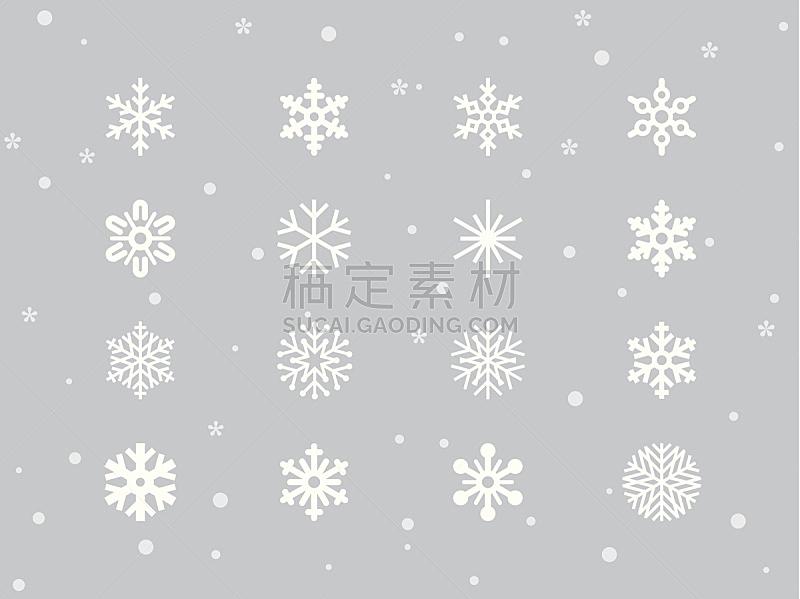 雪花,冰晶,天气,水晶,雪,绘画插图,新的,艺术,形状