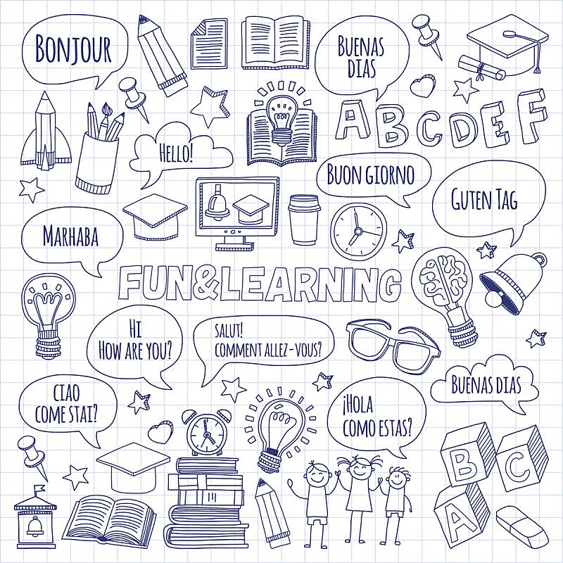 未成年学生,计算机图标,乱画,笔记本,文字,纸,直的,纹理效果,绘画插图,英格兰