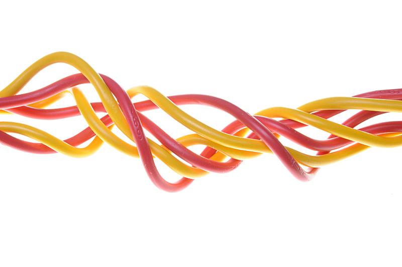 电力电缆,红色,黄色,电缆,水平画幅,能源,电话机,无人,组物体,塑胶