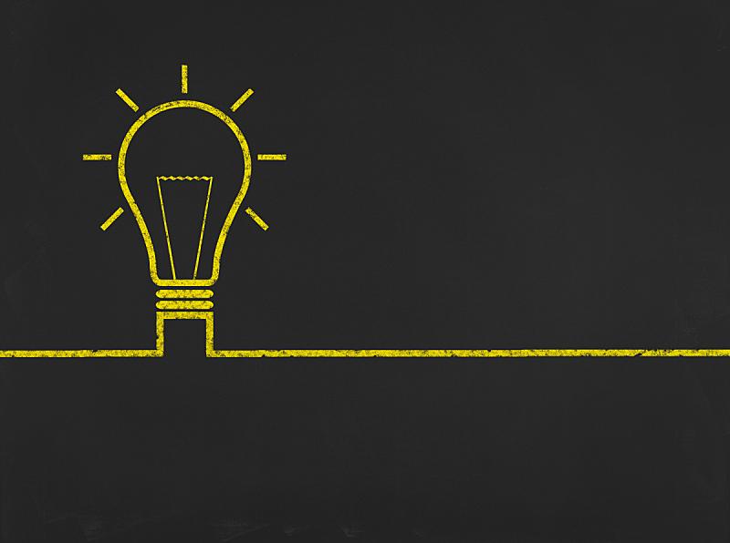 电灯泡,商务,概念,黑板,背景聚焦,继任者,决策点,男性形象,留白,脑风暴