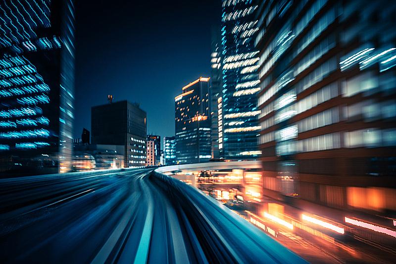 运动模糊,火车,抽象,摄像机拍摄角度,超慢镜,高速列车,迅速,高架火车,单轨电车,台场