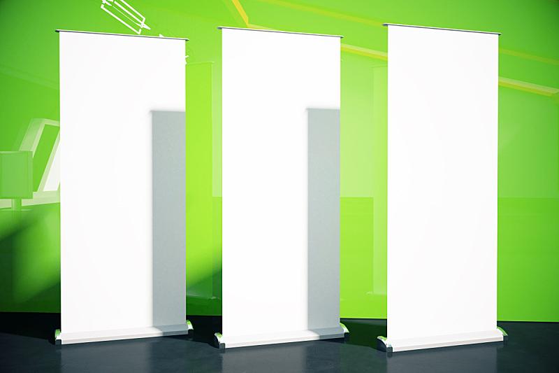 墙,绿色,三个物体,留白,水平画幅,无人,白人,市场营销,想法