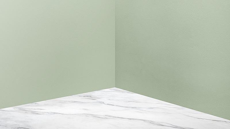 透视图,现代,白色,空的,角落,商务,住宅房间,绿色,大理石,出示