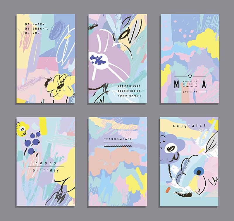 贺卡,创造力,全球通讯,花纹,彩色蜡笔,稀缺,蜡笔画,笔触,请柬,水彩画颜料