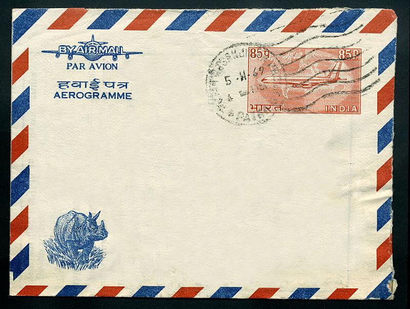 航空邮件,印度,水平画幅,邮件,无人,古老的,犀牛,文档,摄影