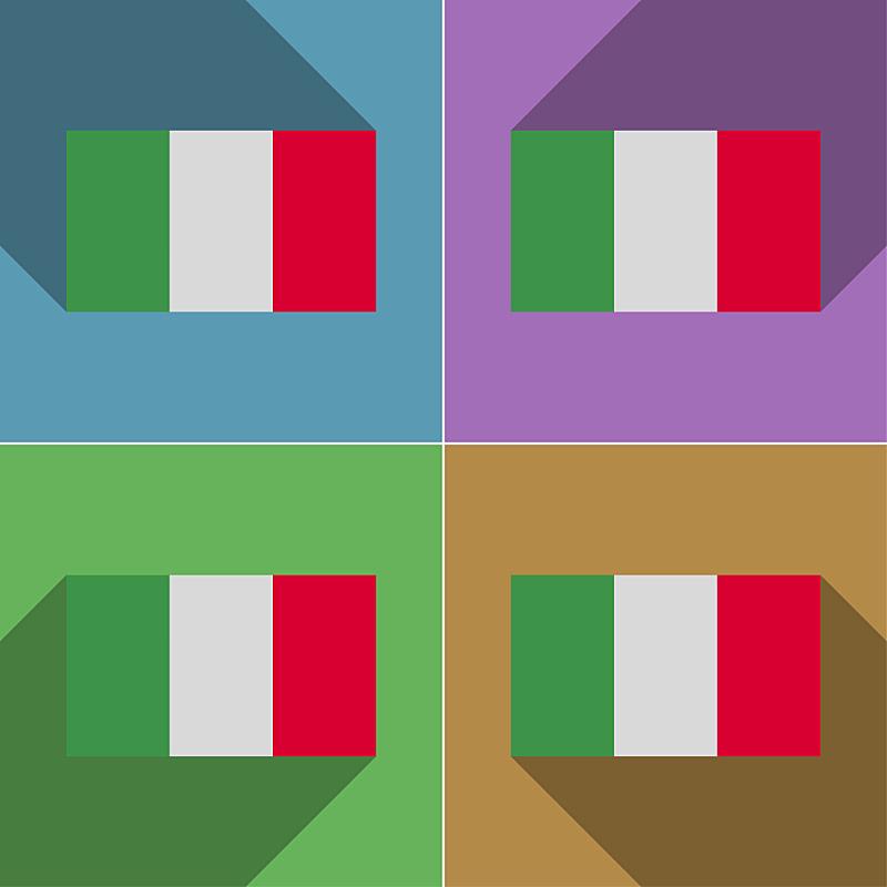 阴影,扁平化设计,意大利,人种,2015年,符号,纸板,国内著名景点,标志,方形画幅