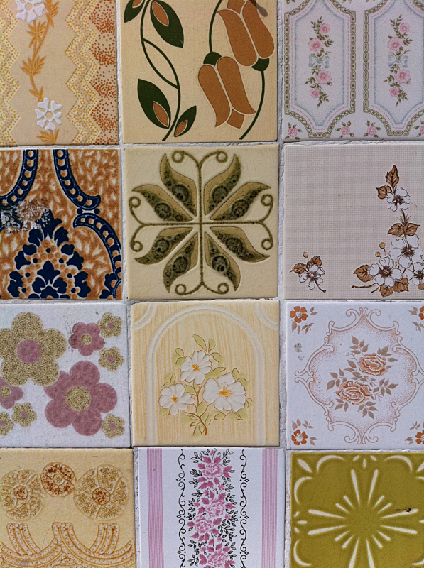 垂直画幅,形状,墙,彩色图片,无人,2015年,瓷砖,创造力,摄影,花