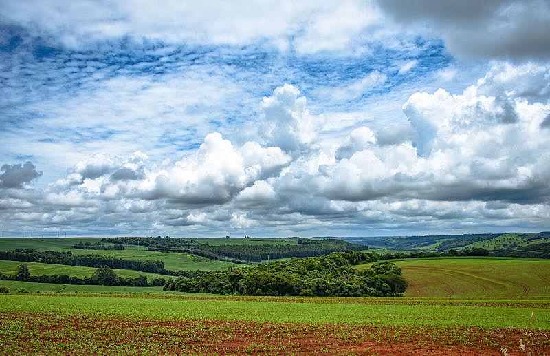 巴西,地形,巴拉那洲,城市,托雷多,天空,美,水平画幅,云,无人