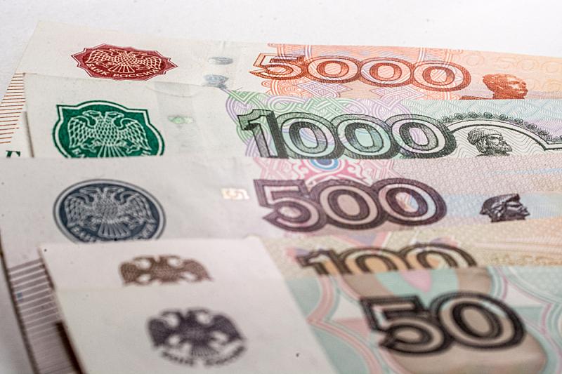 帐单,俄罗斯卢布,水平画幅,无人,特写,图像,摄影