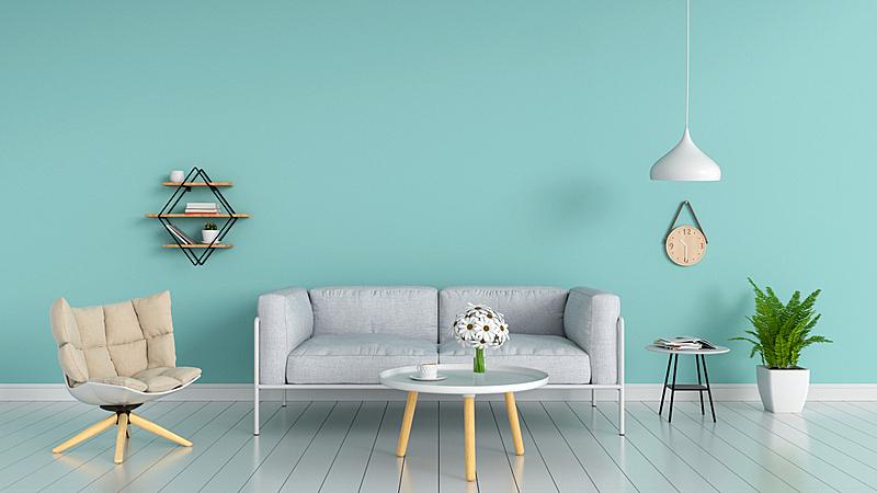 沙发,三维图形,起居室,水平画幅,无人,椅子,架子,家具,光,钟