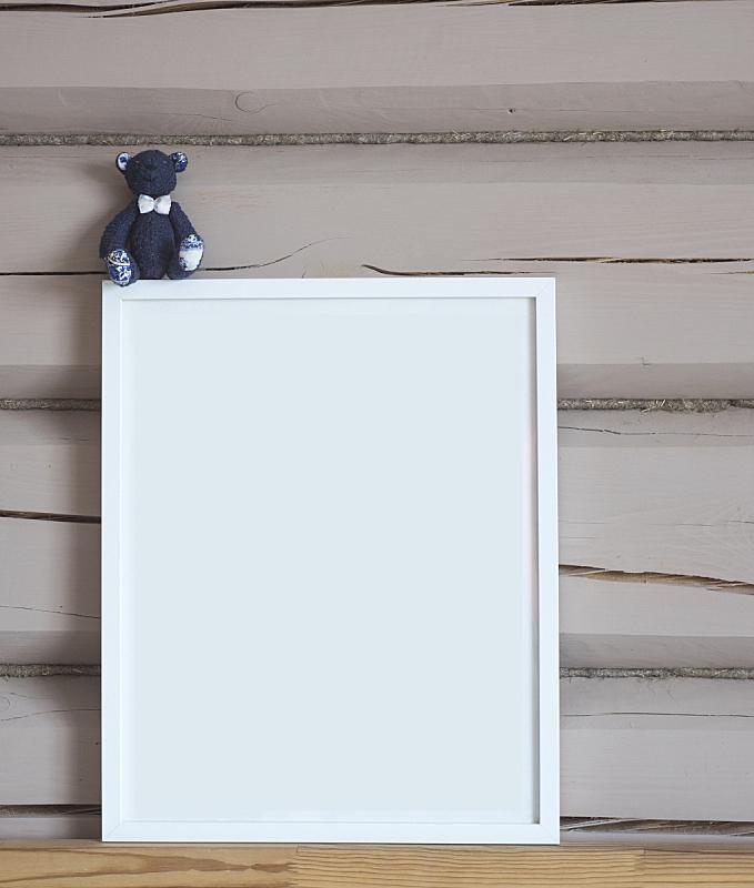 儿童,室内,米色,木制,空白的,边框,垂直画幅,墙,玩具