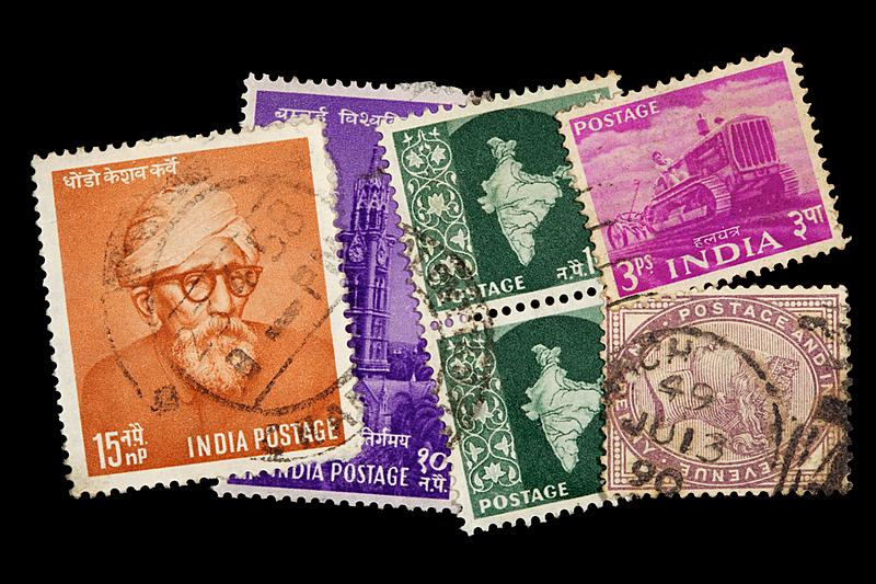 邮件,印度次大陆人,邮戳,古董,水平画幅,高视角,无人,符号,墨水,古典式