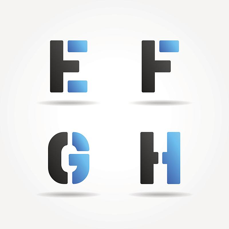 漏字板,字体,蓝色,字母,灵感,艺术,形状,绘画插图