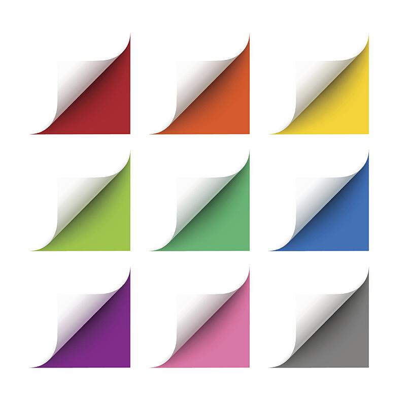 角度,矢量,白皮书,果皮,角落,卷着的,弯的,折叠的,书页,纸