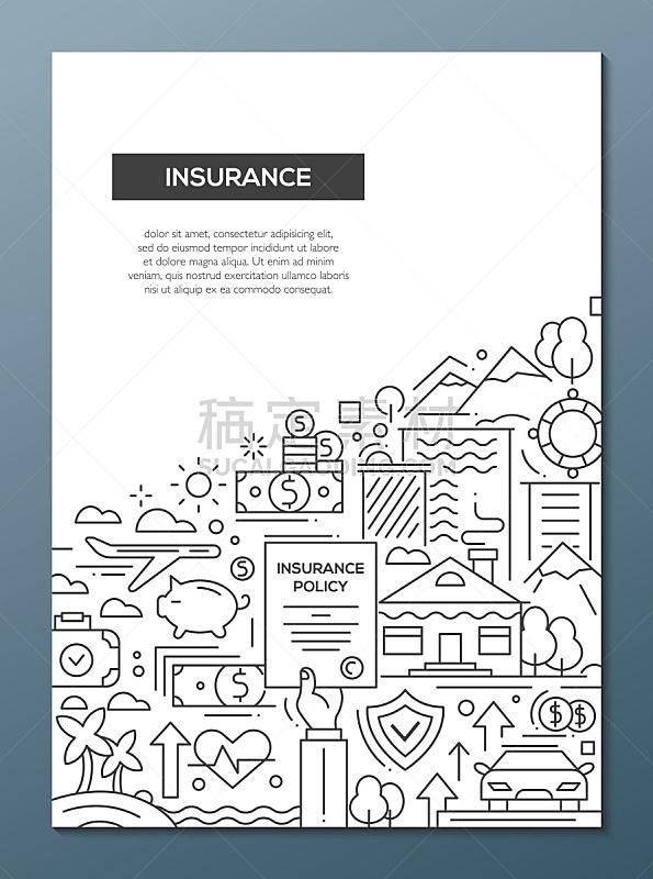 保险,成一排,小册子,麦克唐纳·道格拉斯f-4,模板,海报,线条,存钱罐,银行业,财会