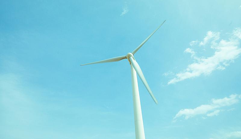 风力,涡轮,天空,风,水平画幅,地形,能源,无人,蓝色,工厂