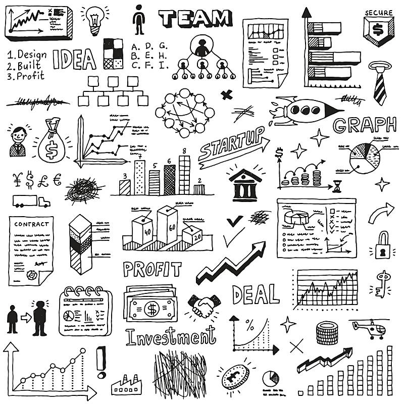乱画,草图,商务,新创企业,数字2,概念,天气,饼图,图表,储蓄