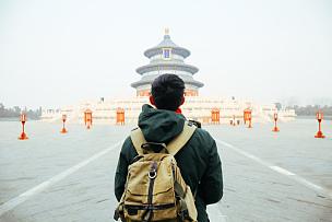 天坛,亚洲,北京,青年人,旅行者锦标赛,在之后,寺庙,冬衣,天堂,探险家