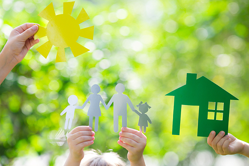 房屋,环境,手,留白,夏天,居住区,想法,儿童,商务