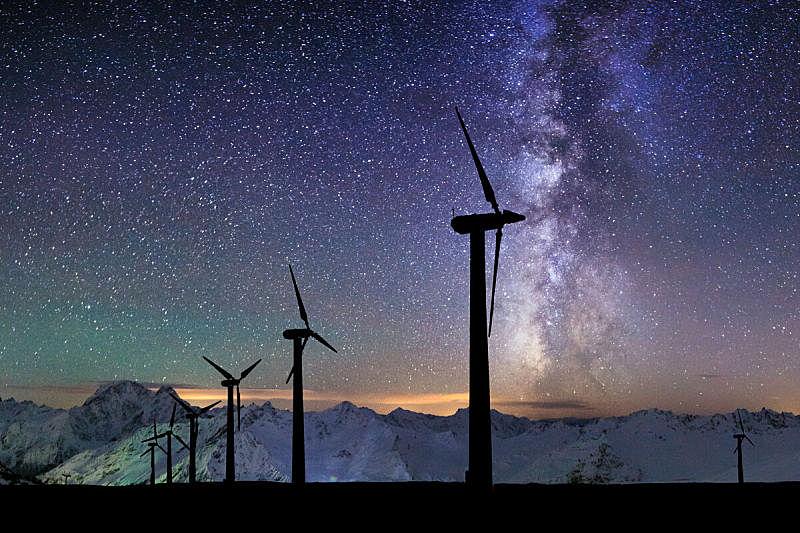 风轮机,星系,山,背景,可再生能源,风力,古尔代盖,埃及,银河系,风车