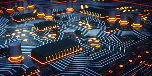 电路板,特写,黄色,热,电脑晶片,半导体,中央处理器,母板,电脑芯片,小家电