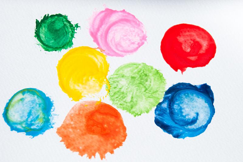 水滴,水彩画,点状,水平画幅,无人,蓝色,抽象,斑点,涂料