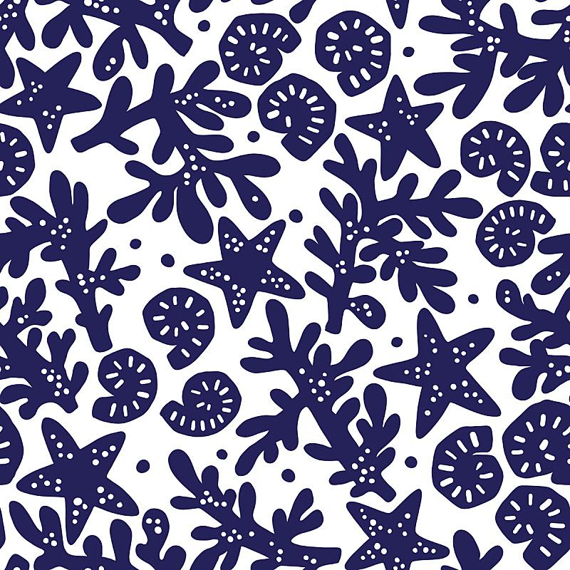 海星,四方连续纹样,珊瑚,纺织品,贝壳,式样,海洋,背景,蜘蛛网,问候