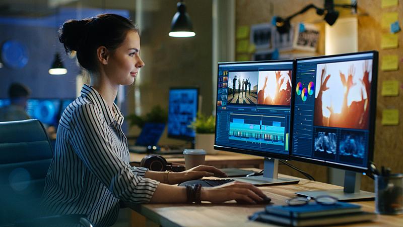 办公室,工作室,女人,创造力,编辑,个人计算机,女性,自然美,工作