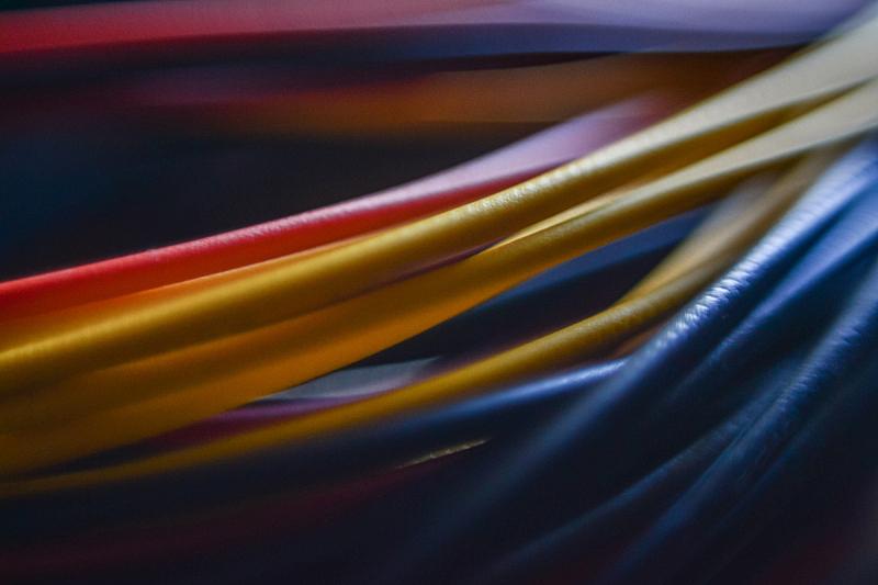 电缆,计算机电缆,水平画幅,无人,蓝色,抽象,特写,红色,彩色图片,电
