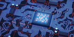 二进制码,电路板,液晶显示,蓝色,电脑晶片,中央处理器,电脑芯片,接线板,电子行业,主机