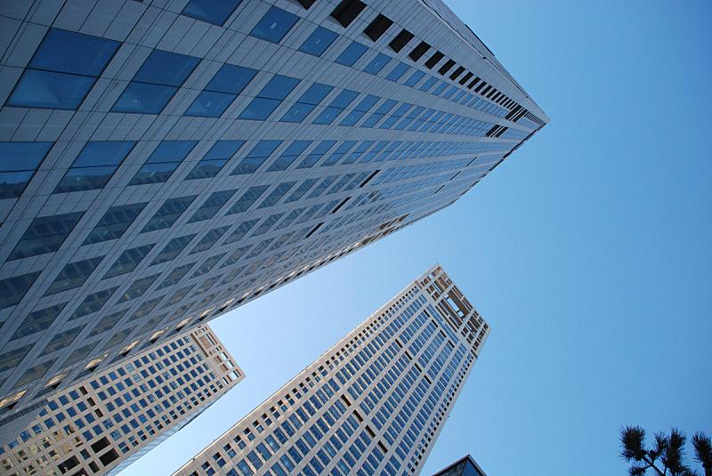办公大楼,cbd,建筑业,北京,水平画幅,建筑,无人,中国,建筑特色,万里无云