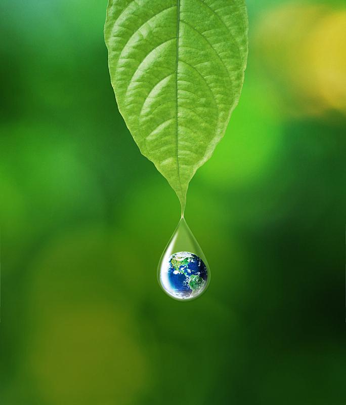 地球形,水,环境保护,地球,环境,水滴,叶子,绿色,垂直画幅,合成图像