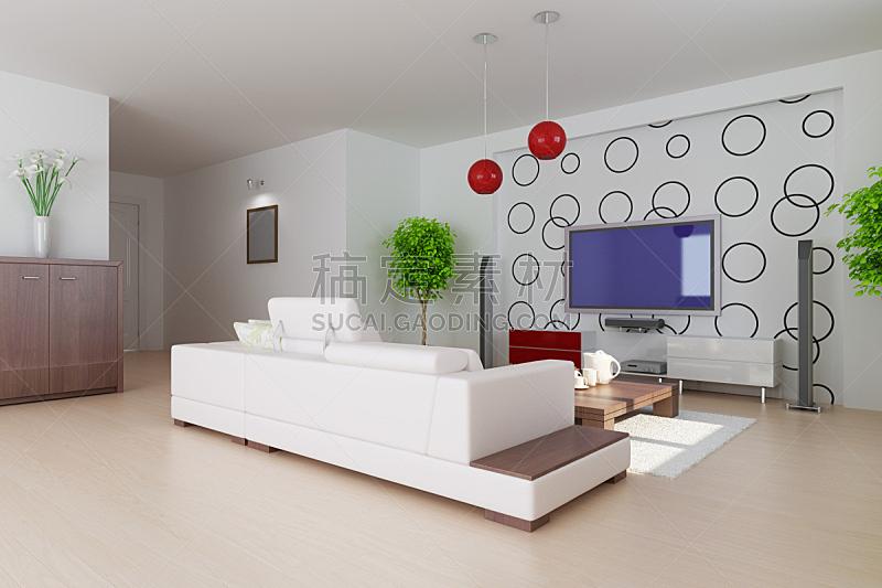 现代,起居室,餐具,座位,水平画幅,形状,无人,硬木地板,天花板,灯