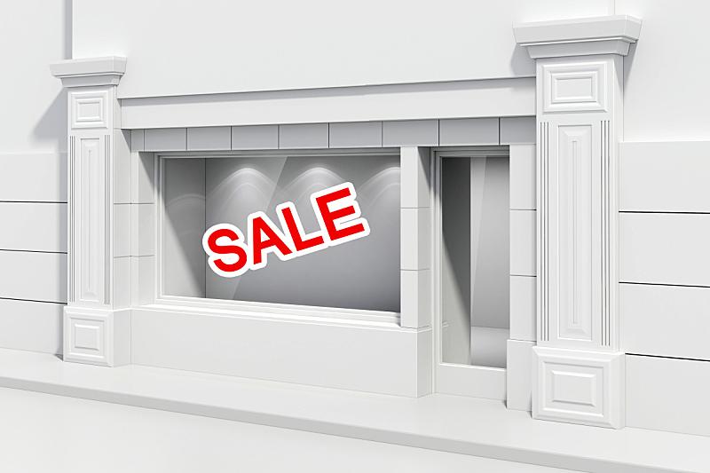 商店,三维图形,窗户,巨大的,正面视角,留白,绘画插图,图像,现代,模板