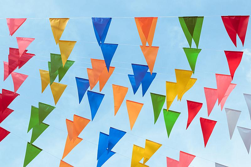 事件,公园,农场,正餐宴会,多色的,式样,装饰旗,传统节日,背景