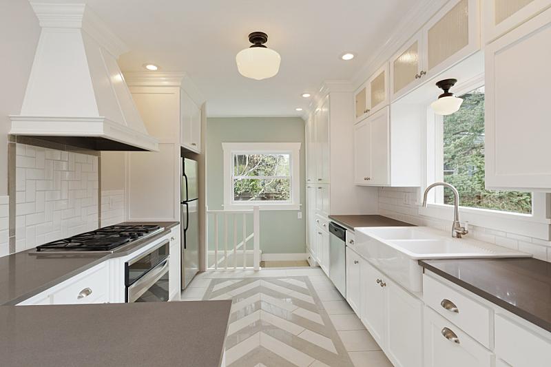 新的,厨房,美,住宅房间,水平画幅,建筑,无人,柜子,房地产